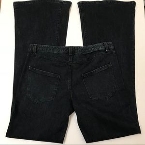Theory Wide Leg Flare Jeans Dark Blue Wash Size 26